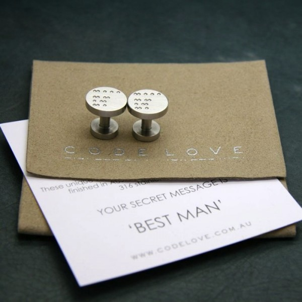 'BEST MAN' Cuff Links