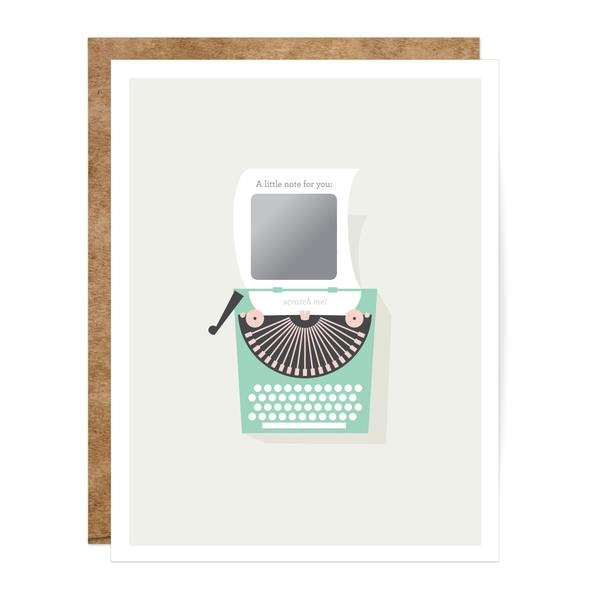 Vintage Typewriter Scratch-off Card