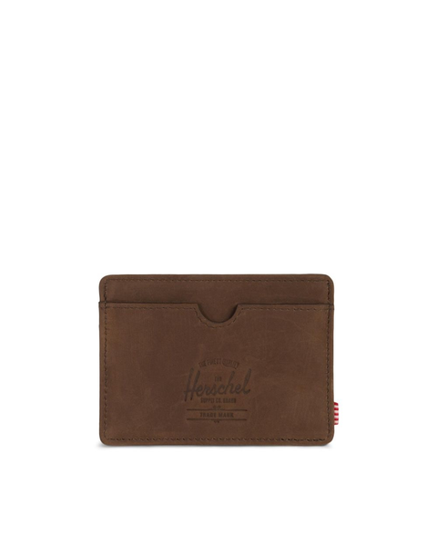 Charlie Wallet - Nubuck Brown Leather