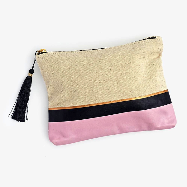 Pink Colourblock Pouch