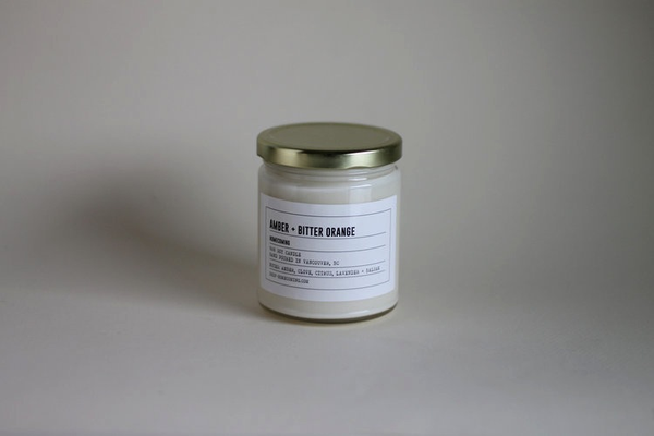 Amber + Bitter Orange Soy Wax Candle