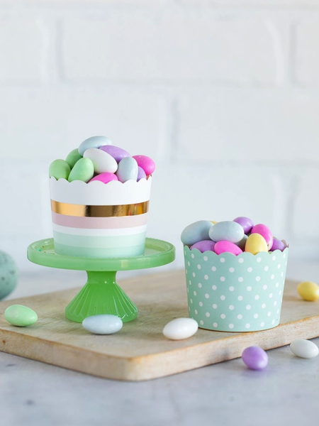 Light Pastel Foiled Baking Cups