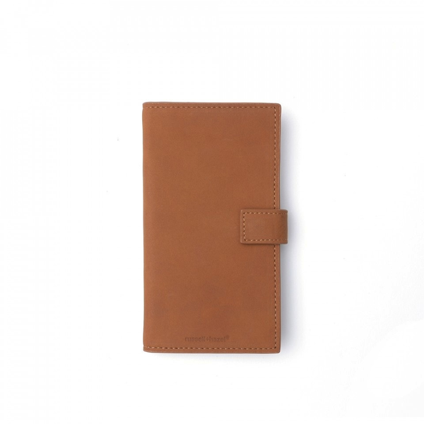 Leather Phone Case + Wallet - Camel