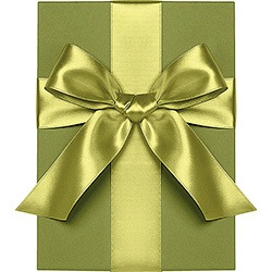 Chartreuse Satin Ribbon 1""