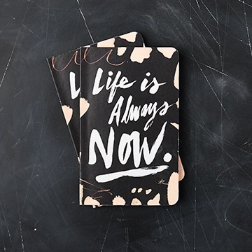 "WRITE NOW JOURNAL - ""Life is always now..."