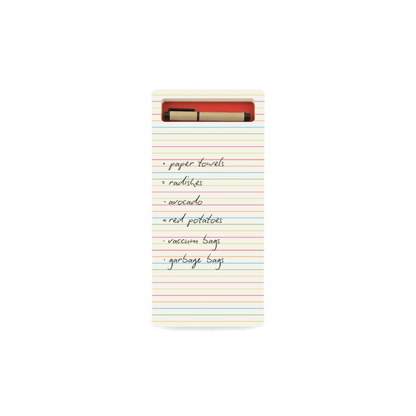 JotBlock Lined Pad -  Long Bright Red