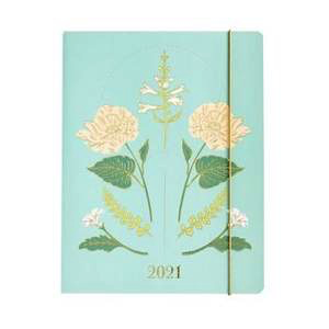 2020-2021 Jumbo Booklet-Vintage Floral Monthly Planner