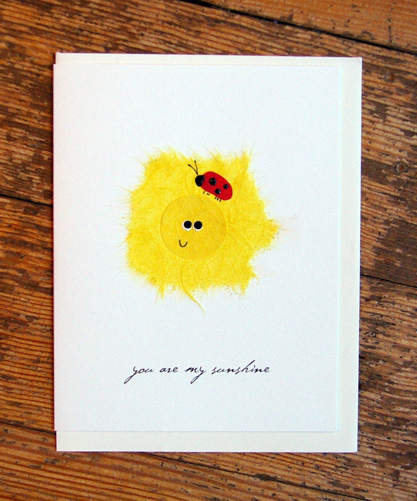 Sun With Ladybug - you are my sunshine