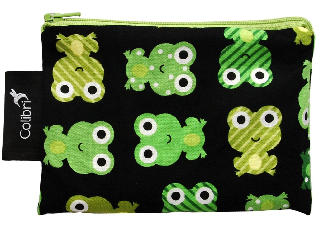 Colibri Small Snack Pouch - Frogs