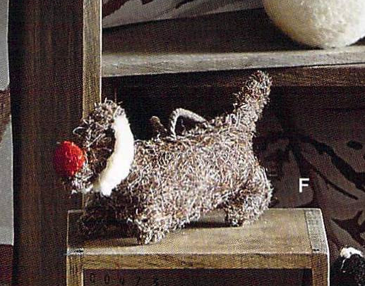Felt Ornament - Rudy Dachshund Dog