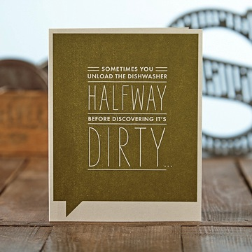 F&F Card - Dirty Dishes