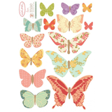 Mini Fabric Decals - Butterflies (Girly)