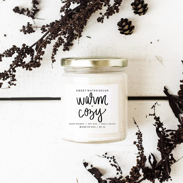 Warm and Cozy Soy Candle - 9oz
