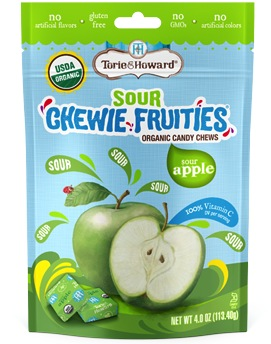 Torie & Howard Organic SOUR Fruit Chew Bags - Sour Apple