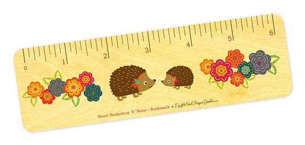 Hazel Hedgehog Bookmark & Ruler