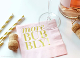 Cocktail Napkins - More Bubbly! (Pink)