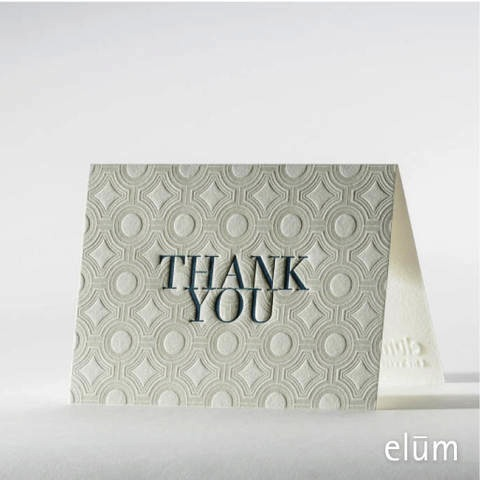 Boxed Thank You Cards - Deco Tiles