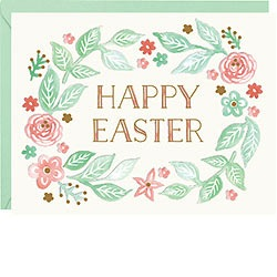 Happy Easter Wreath Foil