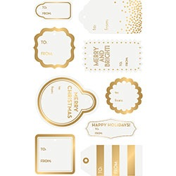 Gold Foil Die-Cut Gift Tags