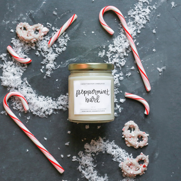 9oz Soy Candle - Peppermint Bark