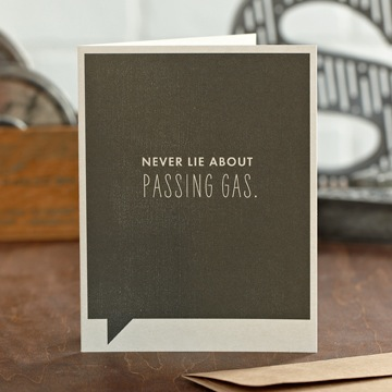 Frank & Funny: Never lie about passing gas.