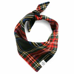 Stewart Plaid Wool Dog Bandana - Medium
