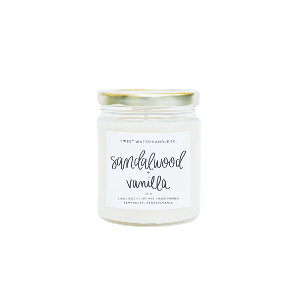 9oz Soy Candle - Sandalwood + Vanilla