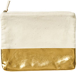 Shiny Gold Colourblock Pouch