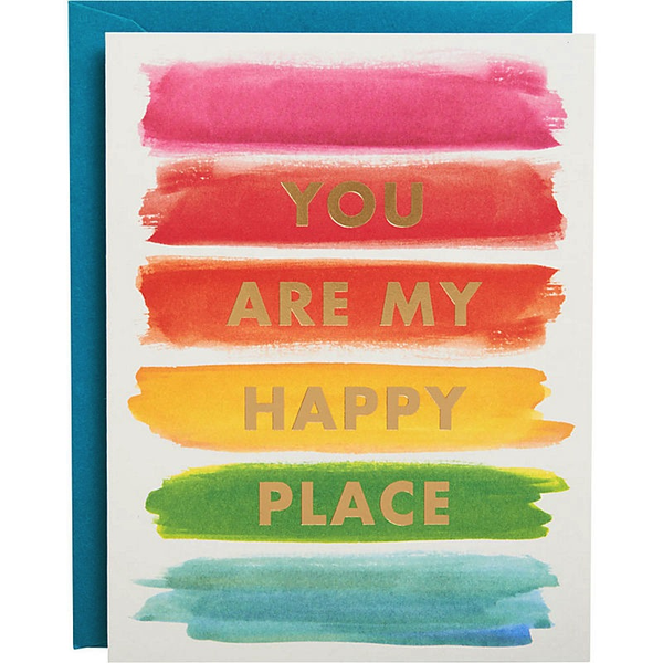 "Rainbow ""You are my happy place"" Foil Card"