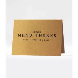 MULTIWAYS THANKS - boxed cards