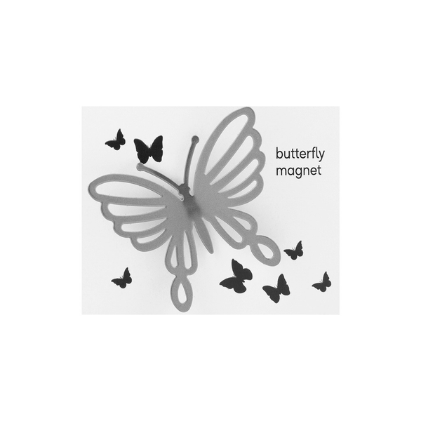 Butterfly Magnet - Chrome