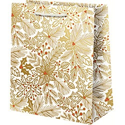 Gold Flowers Red Berries Foil - Large Bag