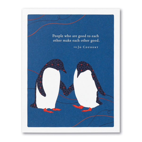 PG CARD - People who are good to each other