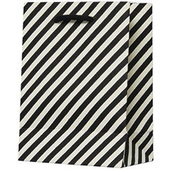 Black & White Diagonal Small Bag