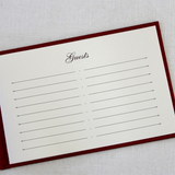 Guest Book - Unlined, Red Rose