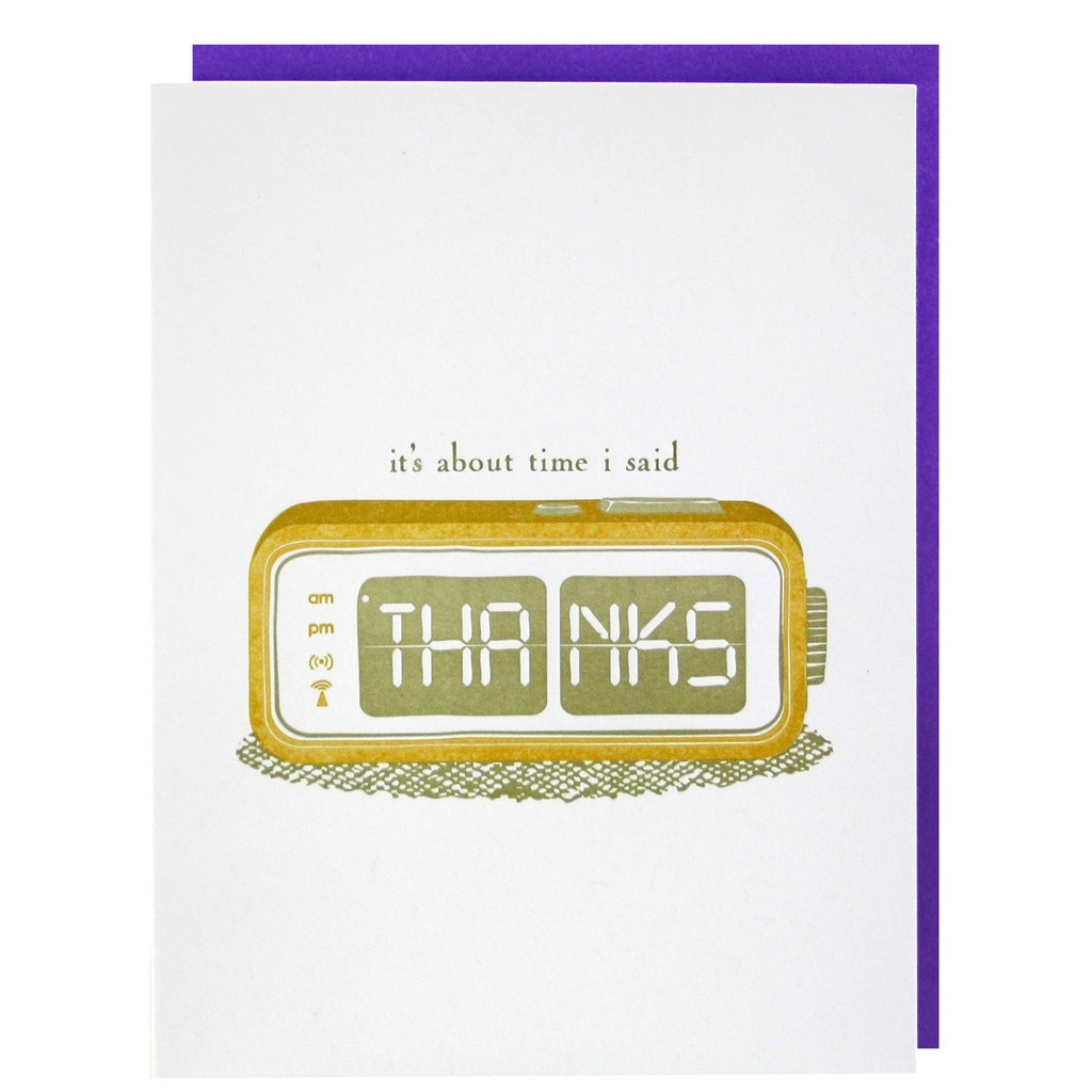 """It's About Time I Said Thanks"" Boxed Cards"