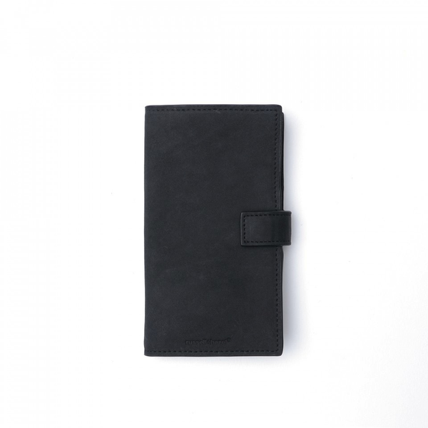 BLACK LEATHER PHONE CASE + WALLET