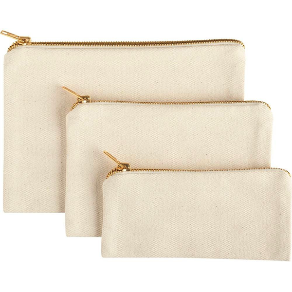 Canvas Pouches - Set of 3