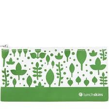 Reusable Zippered Snack Bag Green Leaves
