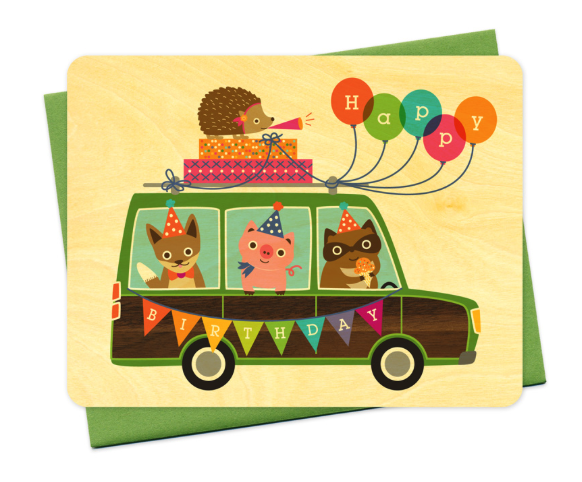x6 Party Wagon - Boxed Cards