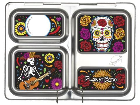 Launch Lunchbox Magnets - Skeletons