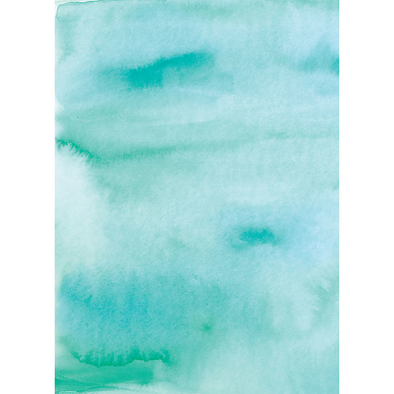 Wrap Sheets - Aqua Watercolor - 2 Sheets/Roll