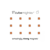Cube Mighties Magnets - Copper 12 pack