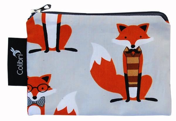 Small Snack Pouch - Foxes