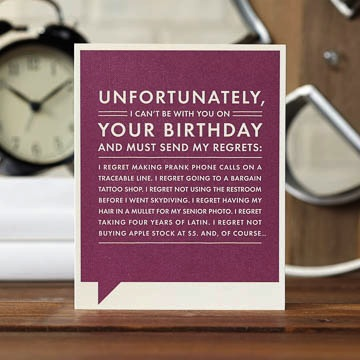 Frank & Funny: Unfortunately, I can't be with you on your birthday...