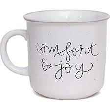 COMFORT AND JOY RUSTIC CAMPFIRE COFFEE MUG
