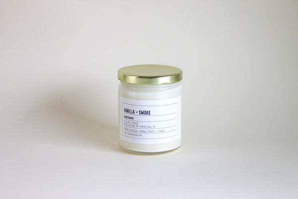 Vanilla + Smoke Soy Wax Candle