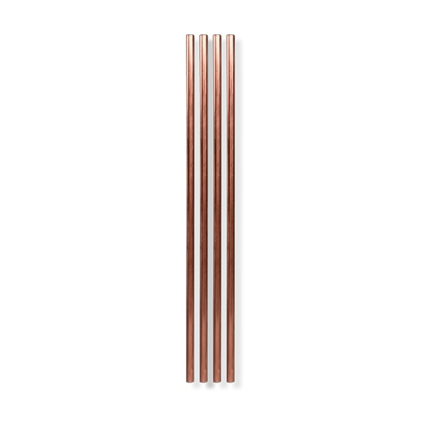 "Metal Straws (10"") - Set of 4 - Copper"
