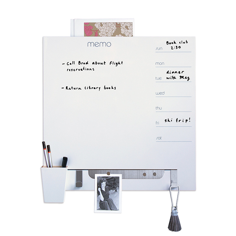 Dry-Erase Channel Panel + Planner -White