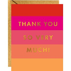 Colorblock Gold Foil Thank You Cards